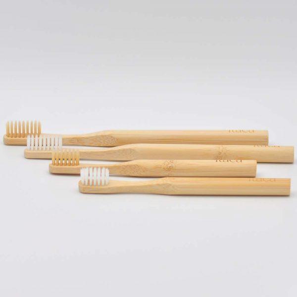 Pack ahorro cepillos dientes bambú