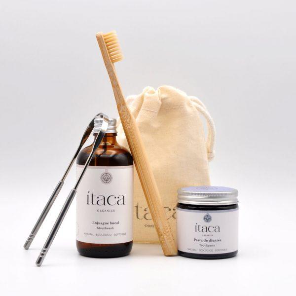 pack essentials pasta dientes oil pulling ecologico cepillo raspador