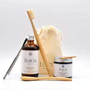 pack essentials pasta dientes oil pulling cepillo raspador